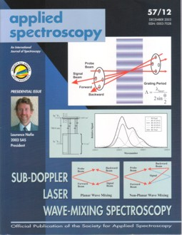 Applied Spectroscopy cover